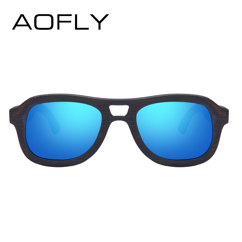 3c73cc1575427 AOFLY BRAND DESIGN Polarized Wooden Sunglasses Men Women Handmade Bamboo  Frame Fashion Style Mirror Eyewear AF611-in Sunglasses from Apparel  Accessories on ...