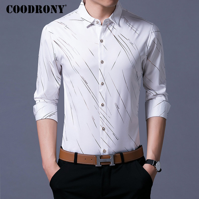 Casual Shirts Long Sleeve Shirt Men Dress  1