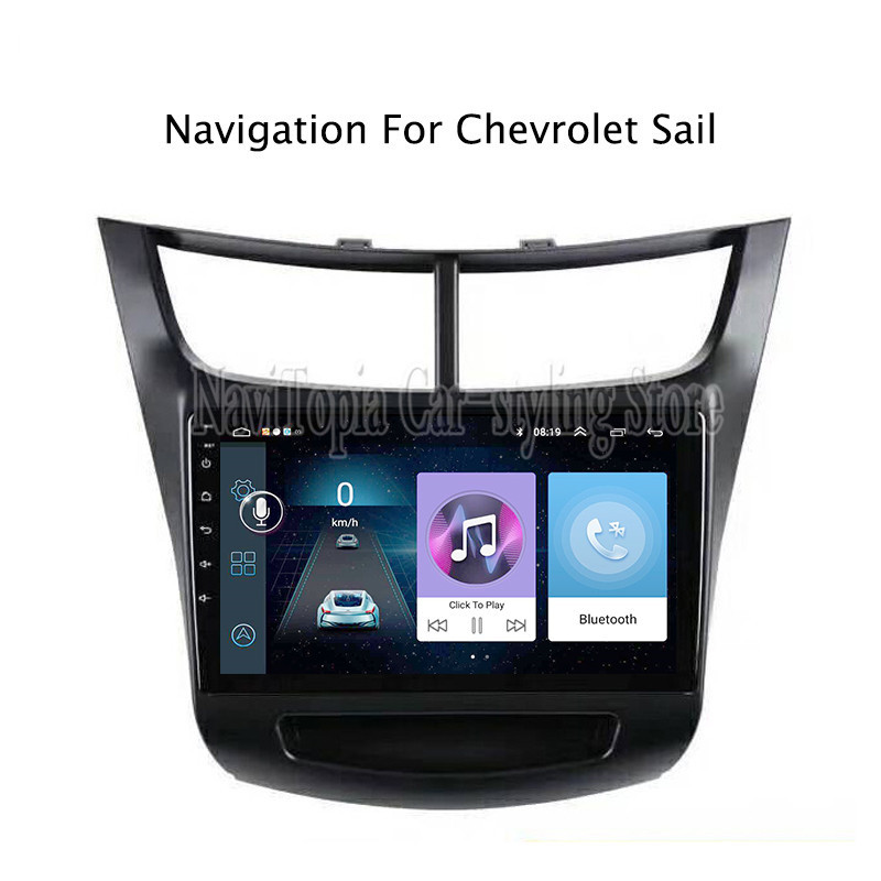 ECTWODVD 9inch Android 8.1 Car Radio GPS Navigation Multimedia Stereo DVD Player for Chevrolet Sail 2015 2016 2017 2018