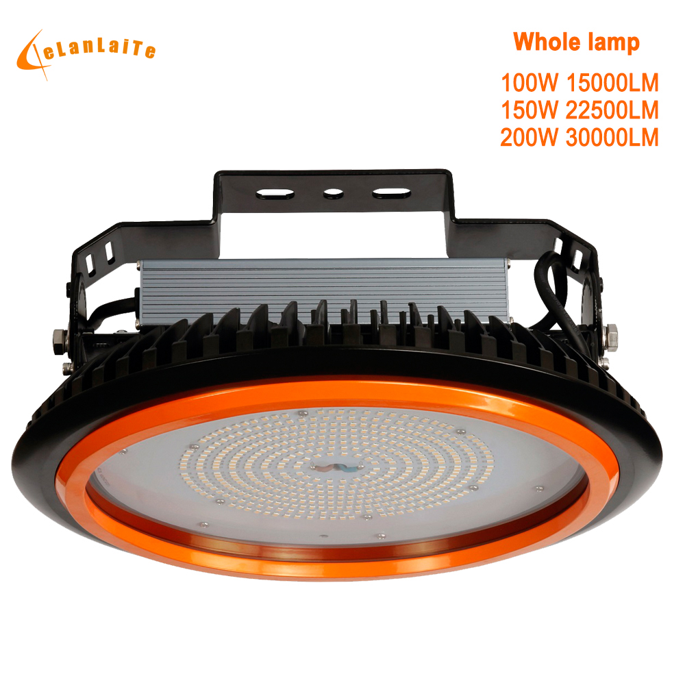 GLITE 100W 150W 200W Industrial Lighting Ufo High Bay Led Light Lamp Industries Led Canopy Light Industrial 150w Workshop Lamp(China)
