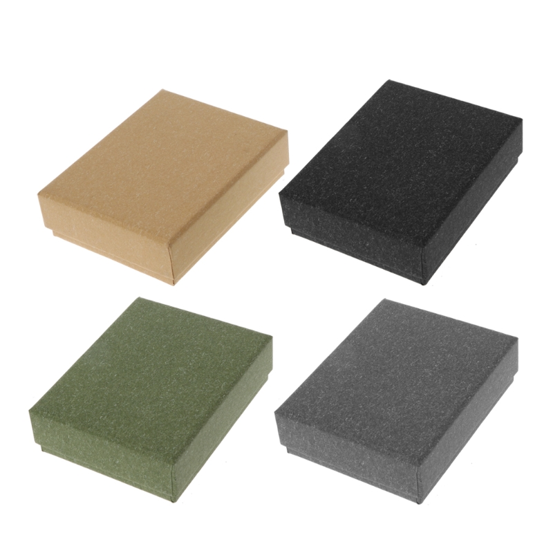 7 x 9 x 3 cm Square Kraft Jewelry Box Necklaces Earrings Bracelets Box Gift Packing Display