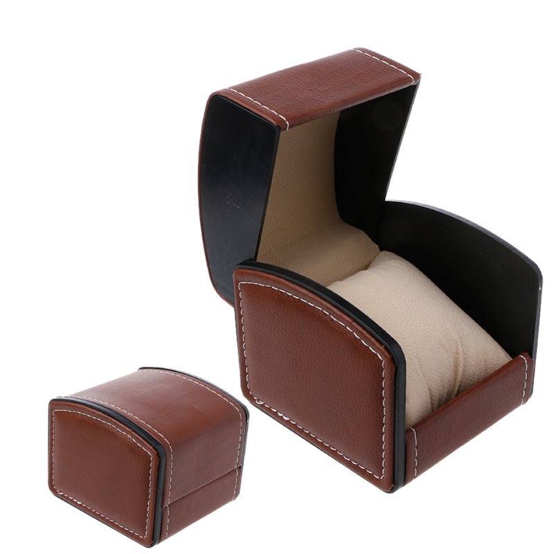 Luxury Faux Leather Watch Box With Pillow Package Case Bracelet Stand Holder New  N11_D