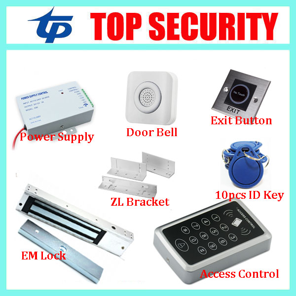 Good quality 1000 users smart RFID card door access controller standalone single door access control system with door lock good quality smart rfid card door access control reader touch waterproof keypad 125khz id card single door access controller