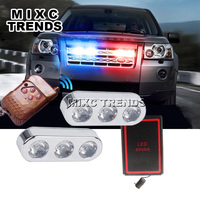 Universal 2X3LED 6W 12V Waterproof Car Truck Emergency Strobe Flash Warning Light With Wireless Remote