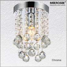 1 light Crystal Chandelier Lighting Fixture Small Clear Lustre Lamp for Aisle Stair Hallway corridor porch