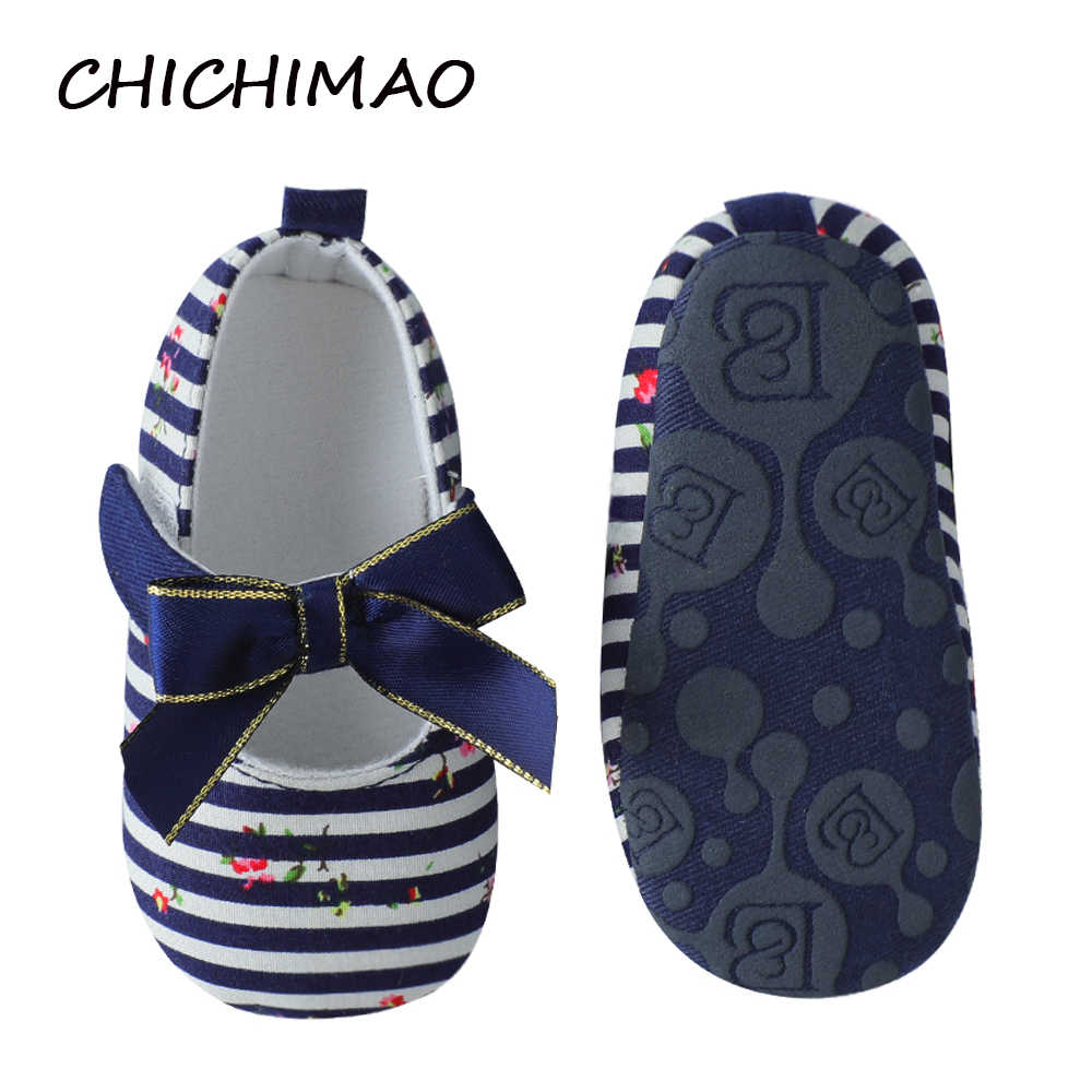 20bbd7349f Baby Girl Slippers Bow Shoes Strip Baby Girl Boy Crib Shoes for  Christenings Baptisms Weddings and other Special Occasions