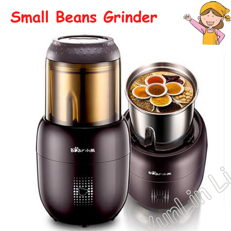 Small Multifunction Grain Mill Machine Electric Portable Stainless Steel Food Mill Herbs Nuts Coffee Bean Grinder FSJ A03D1