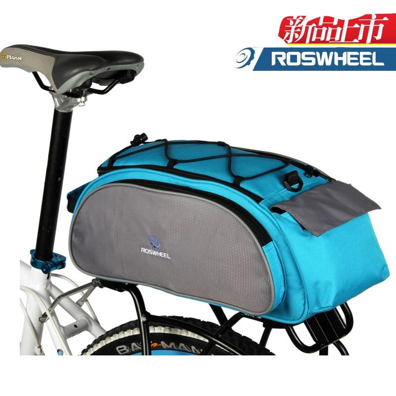 ROSWHEEL Bicycle 13L Carrier Bag Bike Rack Pannier Trunk Basket Back Seat Shelf