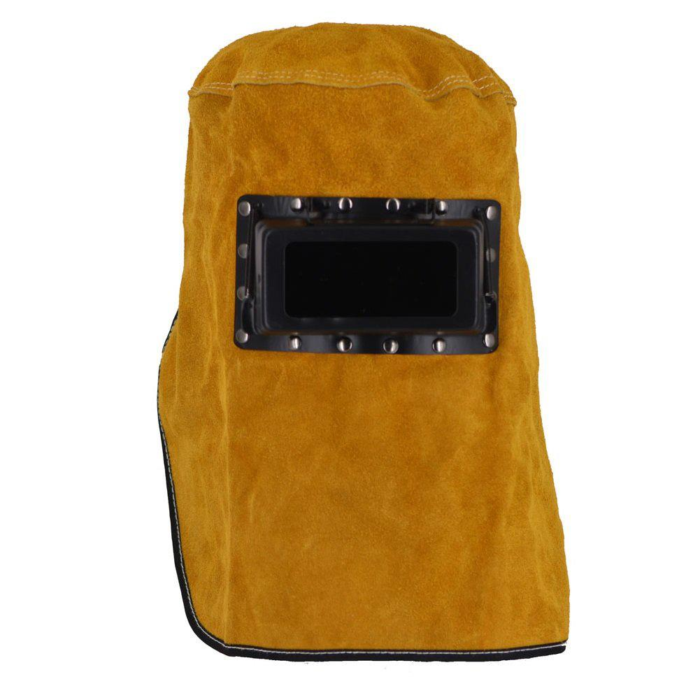 60cm Leather Welding Hood Helmet Mask Protector Cap For Welder Electric Welding Work Workplace Safety