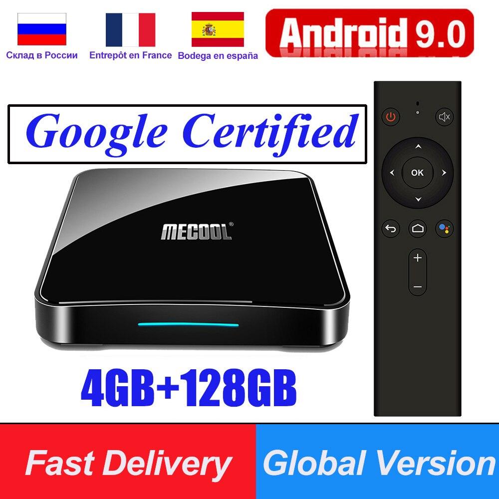 KM9 Pro KM3 ATV Certificado do Google Android 9.0 Caixa de TV Inteligente S905X2 USB3.0 4K HDR 2.4G/5G Wi-fi Controle de Voz De Streaming Media Player