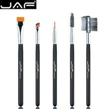 JAF 5pcs Eye Makeup Cosmetic Brush Set for Eyeliner Eyebrow Eyelash Soft Syenthetic Hair Brush Comb Beauty Makeup Tool JE0501S-B