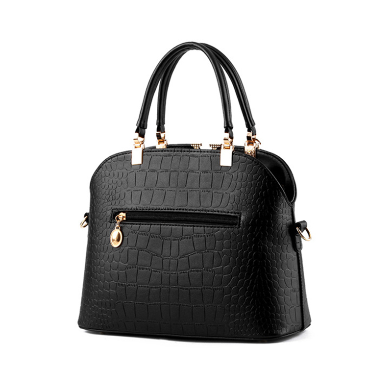 d443c01d9d6d 2018 Alligator Leather Women Handbag Bolsas De Couro Fashion Famous Brands  Shoulder Bag Black Bag Ladies Bolsas Femininas Messen