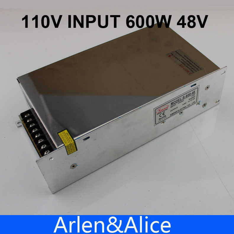 600W 48V 12.5A 110V input Single Output Switching power supply for LED Strip light AC to DC 145w 24v 6a single output switching power supply for led strip light ac to dc smps