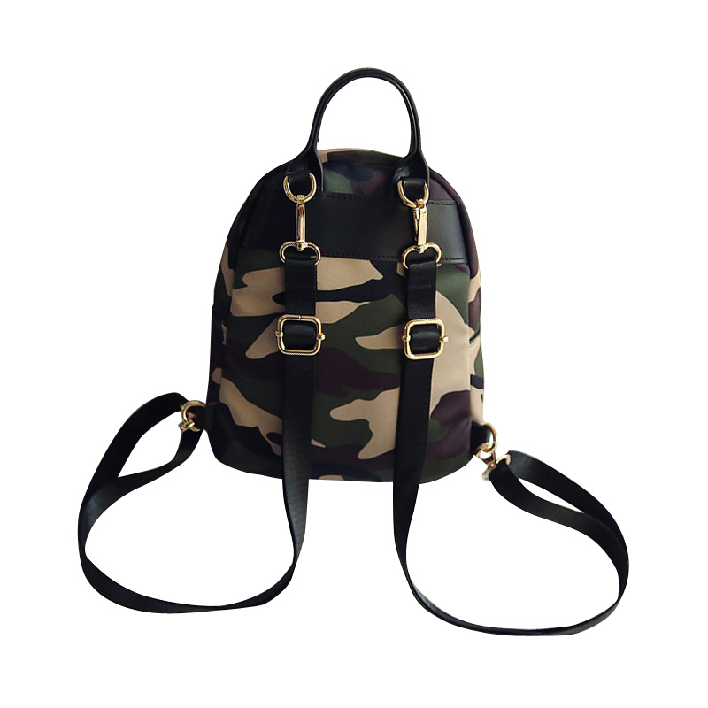 New Women Backpacks School Bag Small Camouflage Bag Casual Mini Nylon  Backpack for Campus College Students Young Girls Female-in Backpacks from  Luggage ... 89387ec990