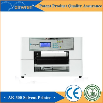 A3 Size Digital For Leather Full Color Eco Solvent Printing Machine