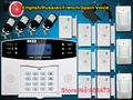 Home Security gsm alarm system LCD Wireless GSM/PNTS/SMS/Call Autodial Voice Home Security Alarm System Free shipping