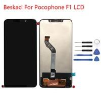 Beskaci For Xiaomi Pocophone F1 Screen LCD Display 6.18 Inch 1080*2246 Pixel Touch Screen For Xiaomi Poco F1 LCD Assembly
