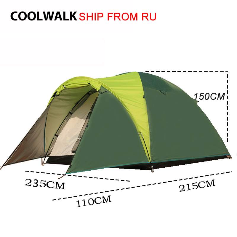 Ship From RU Tents for Family Four Season Dome Tent Outdoor Hiking Camping Traveling Beach Tent One Bed Room and One Living Room trackman 5 8 person outdoor camping tent one room one hall family tent gazebo awnin beach tent sun shelter family tent