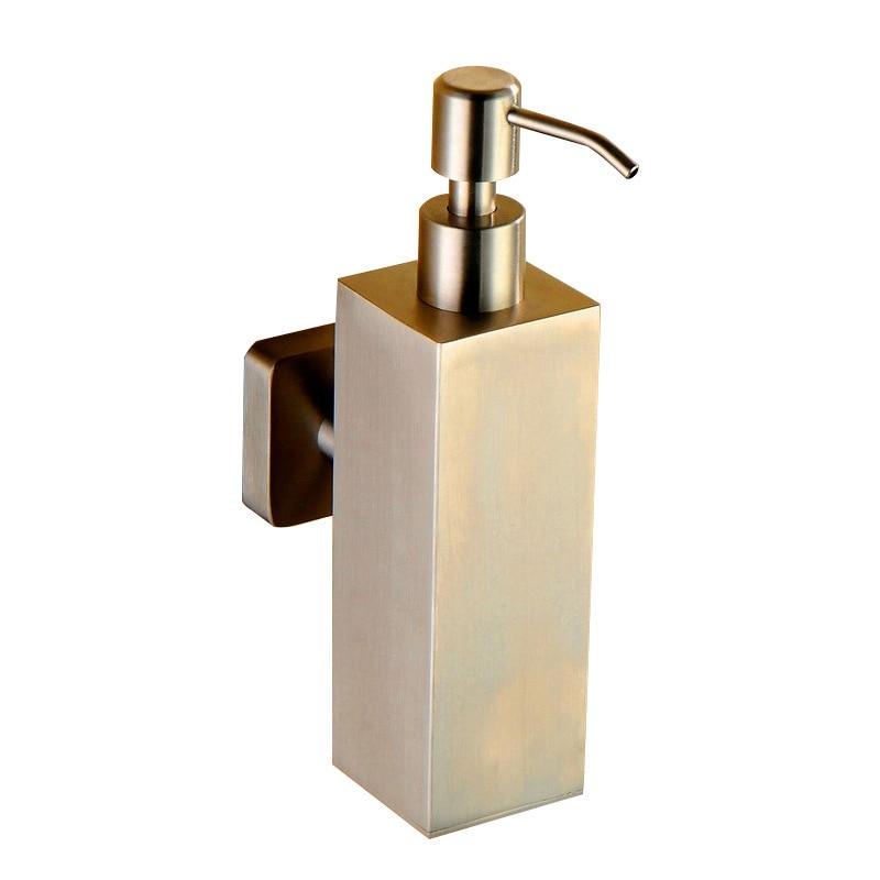 Comprar 304 de acero inoxidable jabón líquido botella cepillado baño accesorios baño de Hardware establece dispensador de jabón 200 ml caja de jabón líquido de Dispensadores de jabón fiable proveedores en ORUIHOME Store