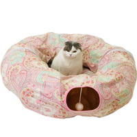 1pcs Cat Toys 250cm Folding Cat Tunnel Cat Tunnel Rolling Ground Pet Environmentally Friendly Educational Toys 7 Colors