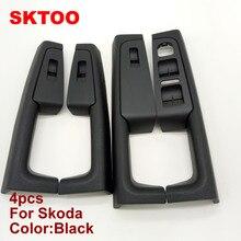 SKTOO A Set (Black)For Skoda Superb Inner door handle armrest, switch box inside the of glove package