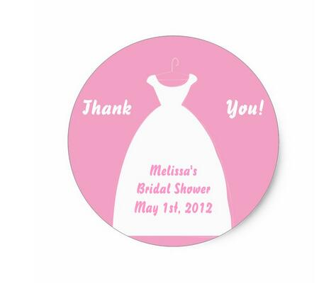 15inch Bridal Shower Favor Labels Stickers In Stationery Sticker