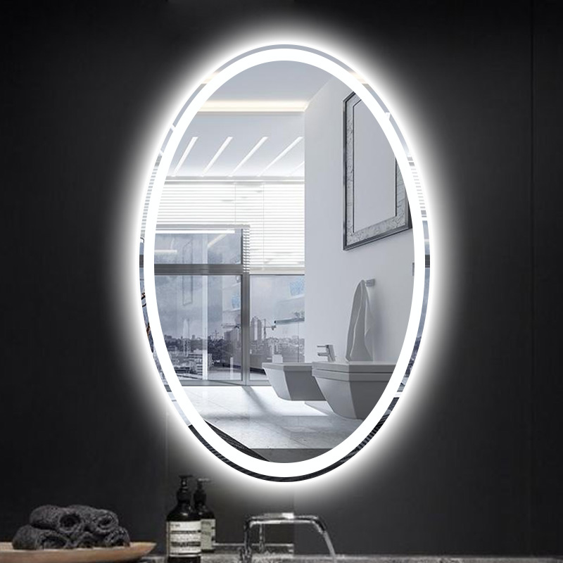 Bathroom Oval Shape Led Wall Sconce Mirror Led Lamp Oval Mirror Light Toilet Makeup Mirror Led Wall Light With Touch Switch Led Mirror In Shop Customized Led Mirrors In India