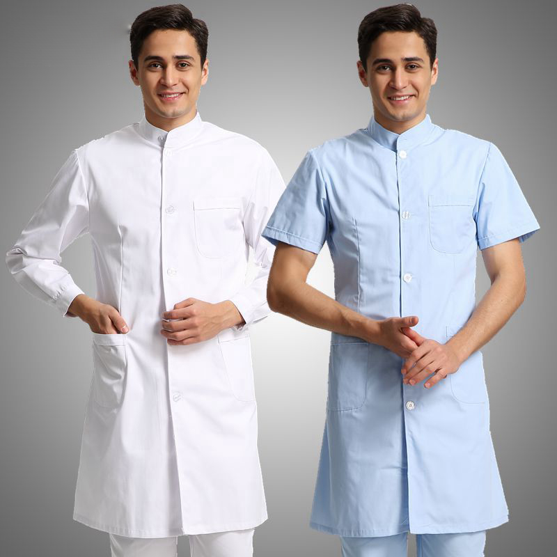 Medical Robe Summer Lab Coat Clinical Experiment Men Medical Uniforms Pharmacy Hospital Doctor Coat White Coats