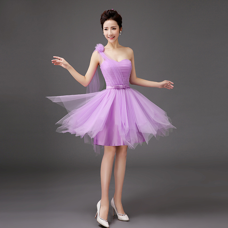 Shanghai Story <font><b>New</b></font> Arrival <font><b>2018</b></font> <font><b>Fashion</b></font> Purple <font><b>Dress</b></font> <font><b>Sexy</b></font> <font><b>Dresses</b></font> <font><b>Women</b></font> One Shoulder Coctail <font><b>Dress</b></font> For Party <font><b>Dresses</b></font> <font><b>Women</b></font> image