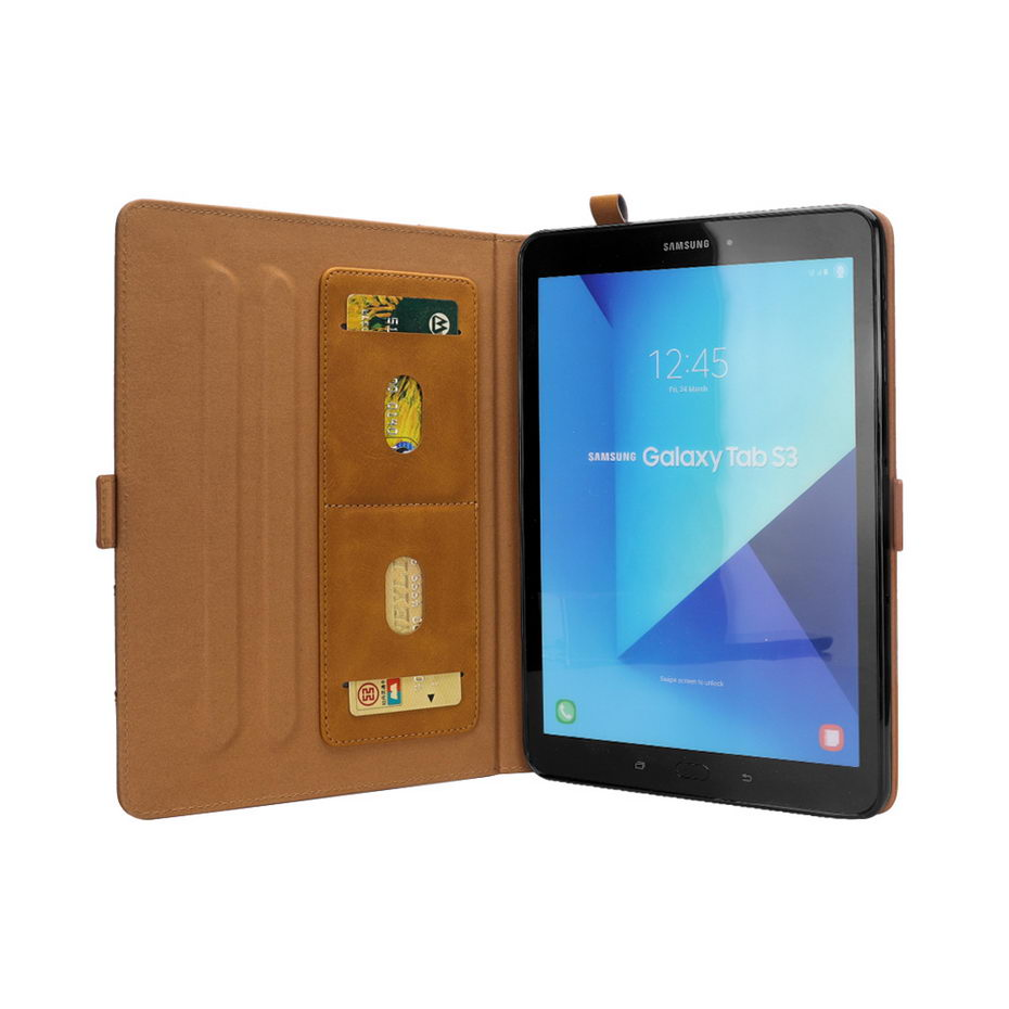 Luxury Business PU Leather Case For Samsung Galaxy Tab S3 9.7 T820 T825 Cover Funda Tablet Case Stand Shell Skin