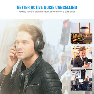 Image 3 - Bluedio T6S Bluetooth Headphones Active Noise Cancelling  Wireless Headset for phones and music with voice control