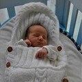 Новорожденный Обертывание Пеленание Одеяло Шерсти Вязать Одеяло Пеленание Спальный Мешок Сна Мешок Коляска Wrap 0-12 Месяца