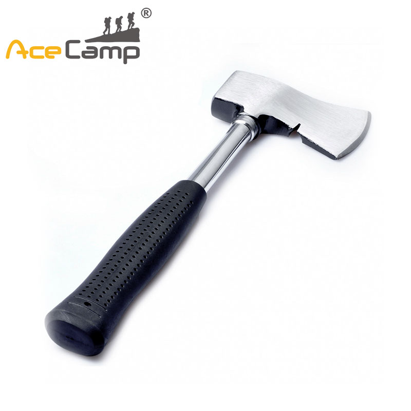 AceCamp Camp Steel Axe Outdoor Hunting Camping Survival Hand Tool Woodworking Repair Tools With Rubber Handle Tomahawk Machete 2017 new arrival axe multifunctional tomahawk outdoor mountain camping ax survival machete camping hatchet with wood handle