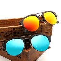 Новинка 2017 года деревянный пилот Солнцезащитные очки для женщин Для мужчин/Для женщин поляризационные Защита от солнца очки ретро зерна ме...