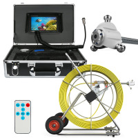 GAMWATER 80M 100M 120M 160M Sewer Waterproof Camera Pipe Pipeline Drain Inspection System 7 LCD DVR