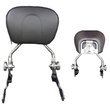 Chrome Detachable Backrest Sissy Bar W/ Backrest For Harley Touring 2009-2016