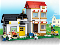 Sluban Model Building Compatible lego Lego B0573 431pcs Model Building Kits Classic Toys Hobbies Apartment Villas