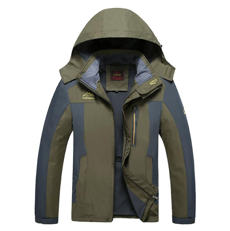 цена на KEENEST Men Hiking Softshell Jacket Windstopper Running Waterproof Outdoor Thermal Plus Size CFY8828