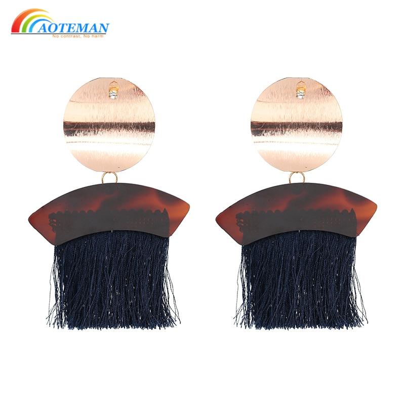 7 Colors Trendy Vintage Bohemian Tassel Long Drop Dangle Earrings Fashion Fringe Earrings For Women Pendientes