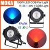 4Pcs Lot Casting Aluminum Case RGBE DMX COB LED Mini Par Light 100W Led Feature Par