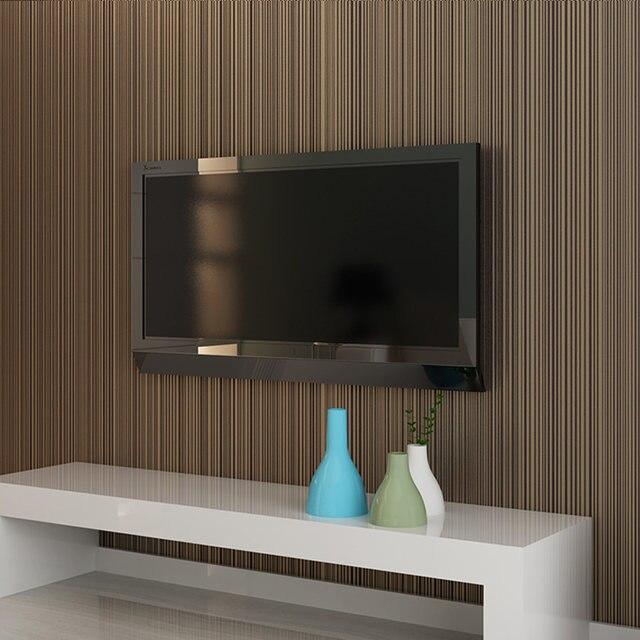 elegant papel pintado a rayas marrn de rayas verticales pintados modernos pared rollo de papel para - Papel Pintado Rayas Verticales