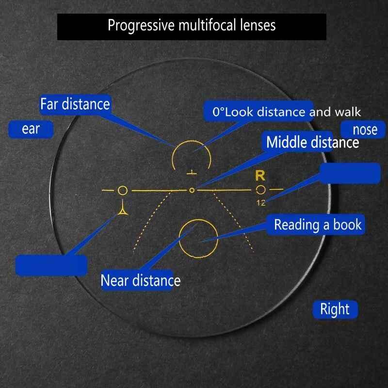 Ilerici multifokal okuma gözlüğü erkek ayarlanabilir görüş kare güneş fotokromik açık güneş gözlüğü kutusu ile NX