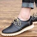 2015 Весна/лето Мужчины Повседневная Обувь Мокасины обувь складной Новый Британский натуральная кожа квартиры мужчины лодка обувь 3 цвет бесплатная доставка