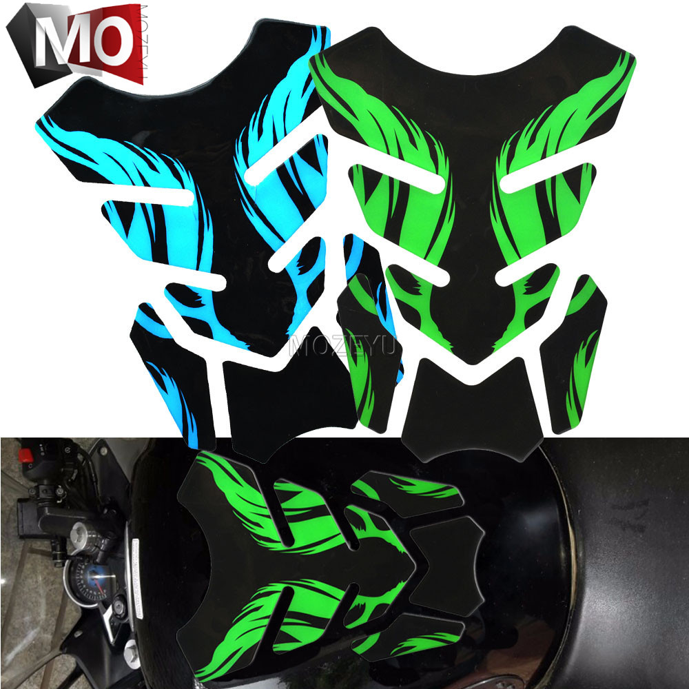 Motorcycle For Suzuki Fishbone 3D Rubber Sticker Tankpad Protector Sticker Gas Fuel Oil Tank Pad