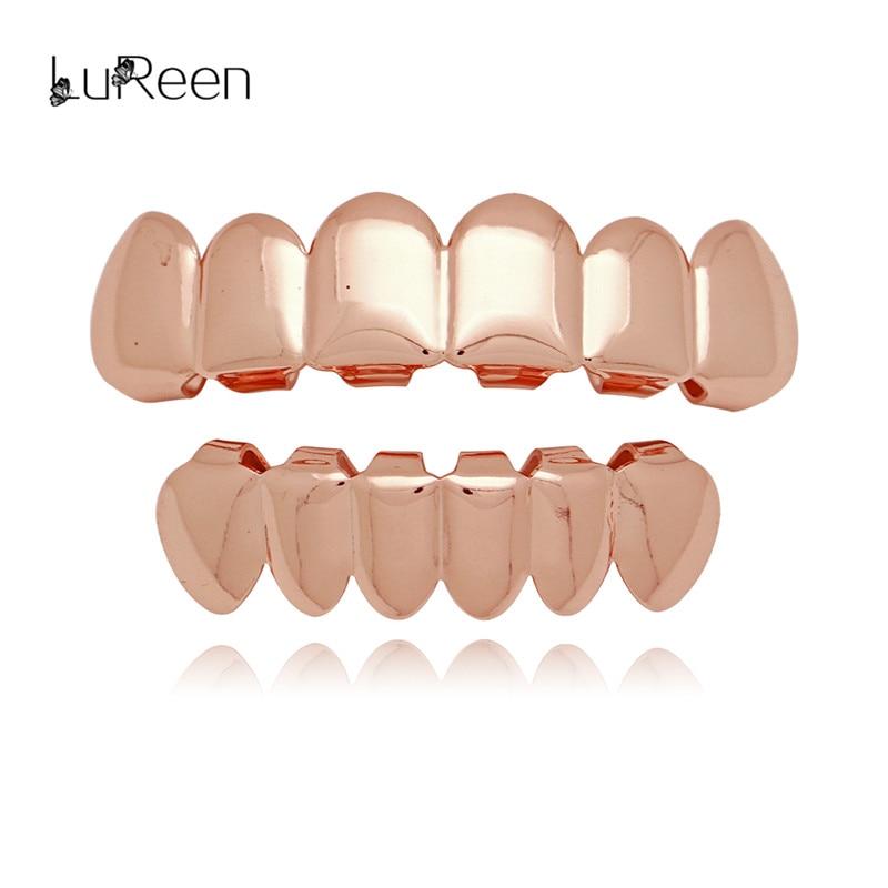 LuReen Hip Hop Gouden Tanden Grillz Top & Bottom Tanden Grills - Mode-sieraden - Foto 2