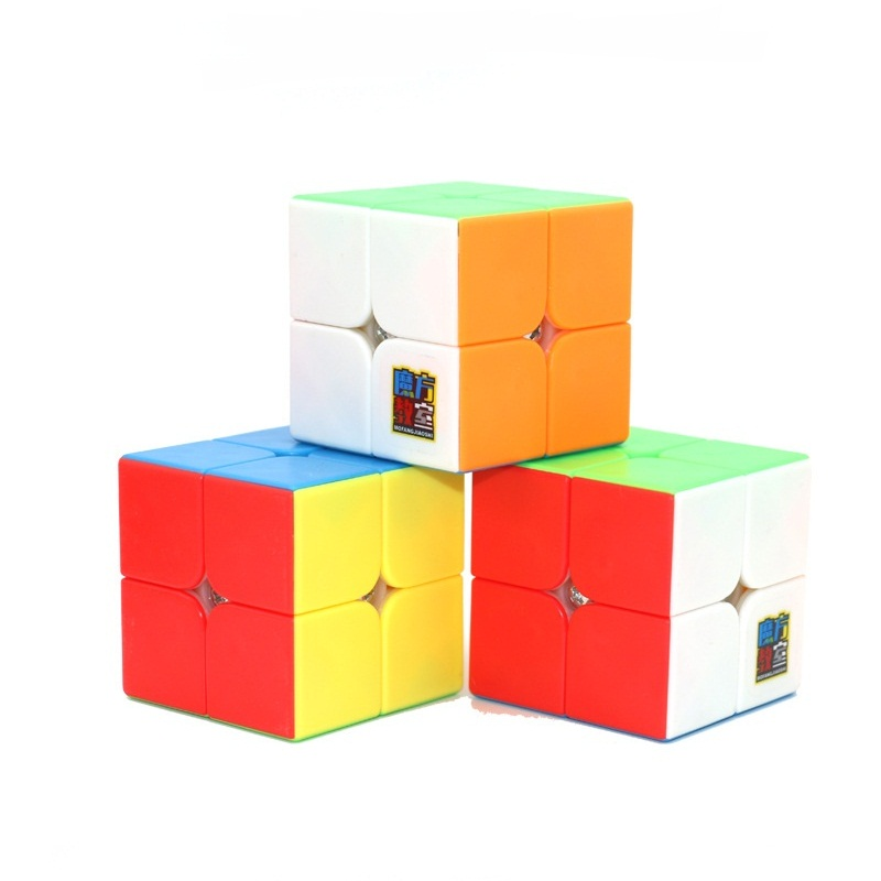 Original Moyu Meilong 5.0CM 2x2x2 Magic Cube Puzzle  Stickerless 2x2 Mofangjiaoshi Professional Cubo Magico Educational Toys