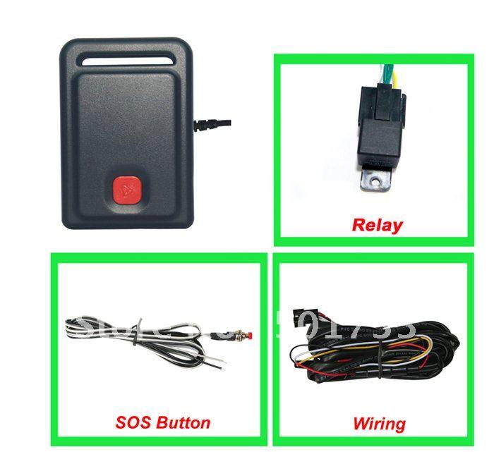 המכונית GPS tracker801 # תומך בשלט רחוק לרכב - אלקטרוניקה לרכב
