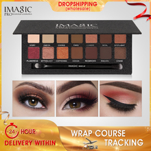 IMAGIC Eyeshadow Palette 14 Colors Eye Shimmer Matte Makeup Light Shadow Shades With Brush