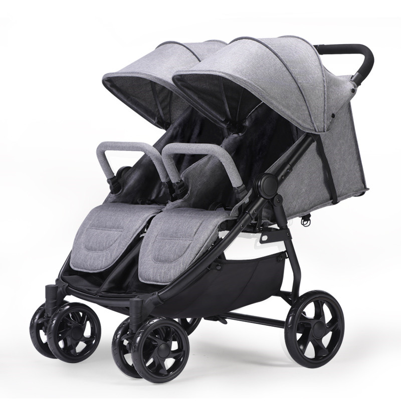 Portable Folding Baby Stroller For Twins Double Stroller Baby Carriages For Newborns lunch bag neoprene large gourmet lunch tote insulated waterproof lunch bags with zipper cooler handbag for women kids baby girls