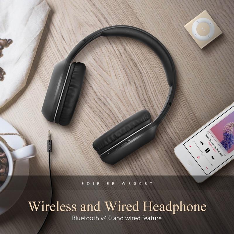 Edifier W800BT Bluetooth Casque Casque Stéréo Sans Fil Écouteur pour iPhone Android Téléphone Ordinateur fone de ouvido - 2
